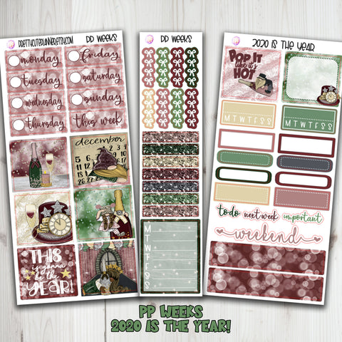 PP Weeks 2020 New Years Planner Stickers