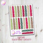 Christmas Doodle Scallop Checklists - Hand Drawn Stickers