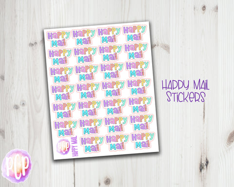 Doodle Pastel Happy Mail Stickers