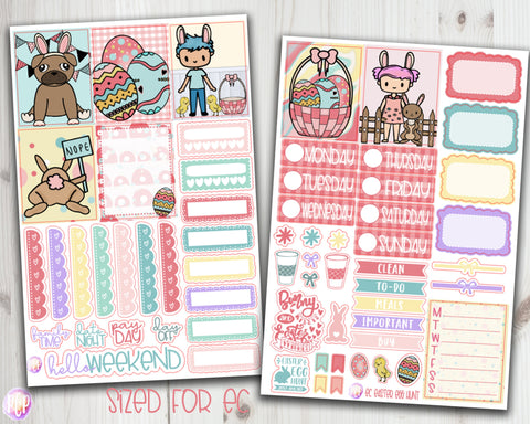 "1.5"" Standard Vertical  Easter Egg Hunt Weekly Planner Stickers"