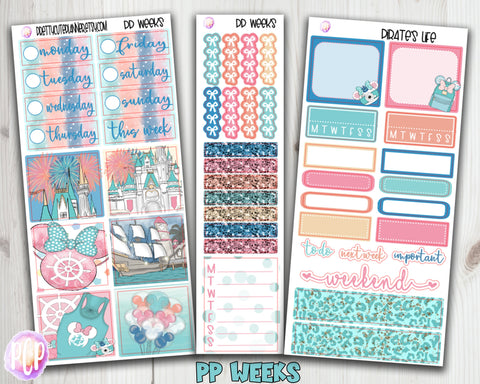PP Weeks Pirate's Life Weekly Planner Stickers