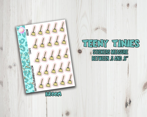 Teeny Tiny Chore Planner Stickers - Broom Icon