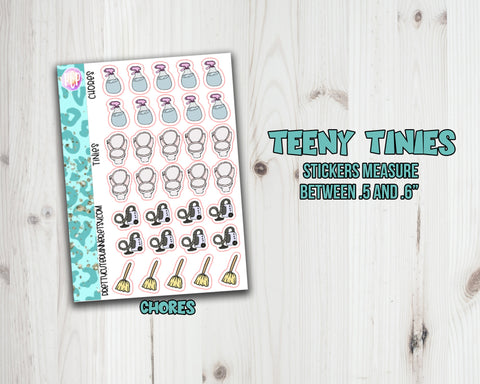 Teeny Tiny Chore Planner Stickers - Sampler
