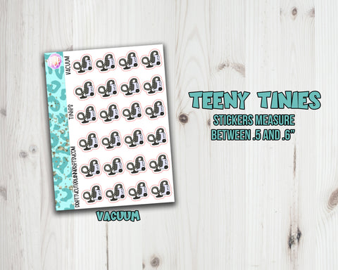 Teeny Tiny Chore Planner Stickers - Vacuum Icon
