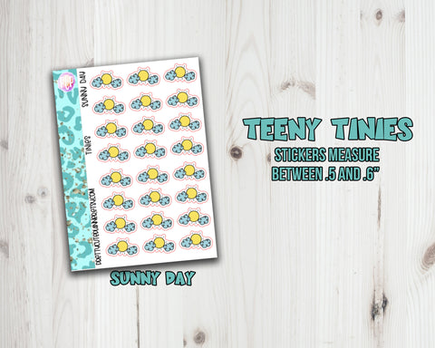 Teeny Tiny Weather Planner stickers - Sunny Day