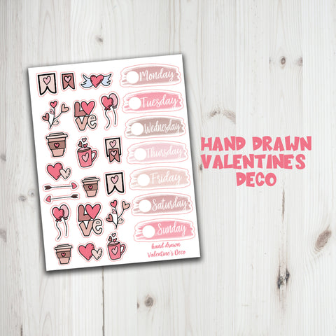 Hand Drawn Valentine's Day Planner Sticker