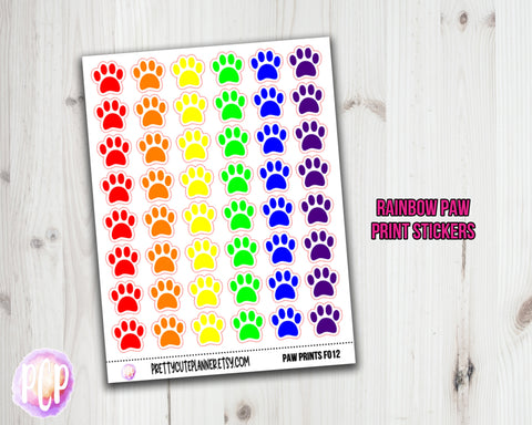 Paw Print Planner Stickers