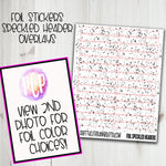 Foiled Header Overlay Stickers - Speckled