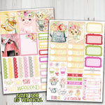 "1.5"" Standard Vertical  Country Girl Weekly Planner Stickers"