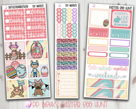 PP Weeks Easter Egg Hunt Planner Stickers
