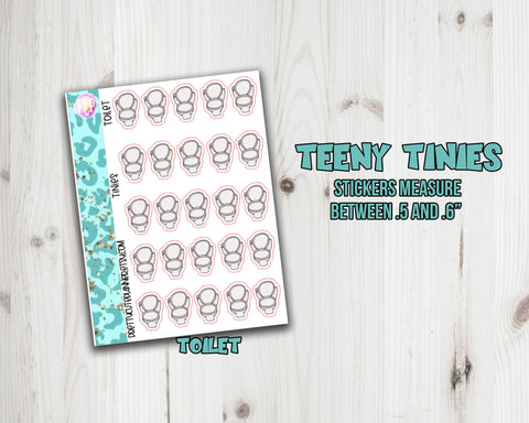 Teeny Tiny Chore Planner Stickers - Toilet Icon