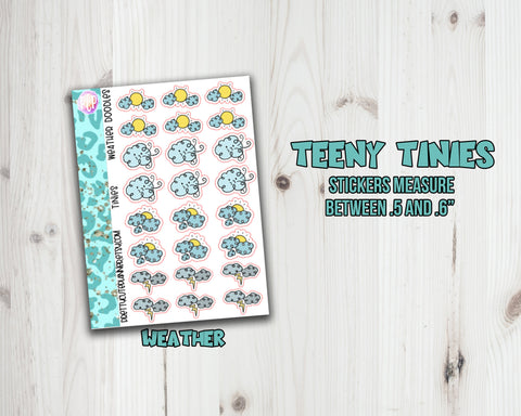 Teeny Tiny Weather Planner Stickers - Sampler