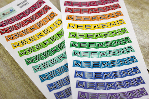 Weekend Banner Planner Stickers Version 2
