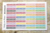 Rescheduled Planner Stickers