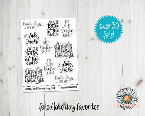 Foil Stickers - Summer Lake Days
