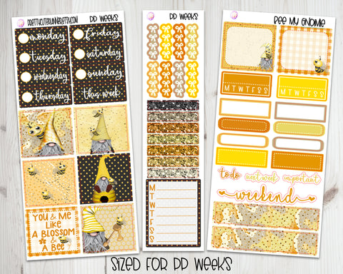 PP Weeks Bee My Gnomie Planner Stickers