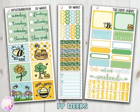 PP Weeks The Bees Knees Planner Stickers