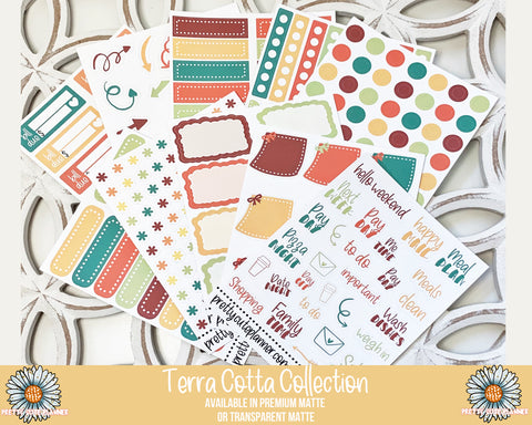 Terra Cotta Functional Stickers - Complete Collection