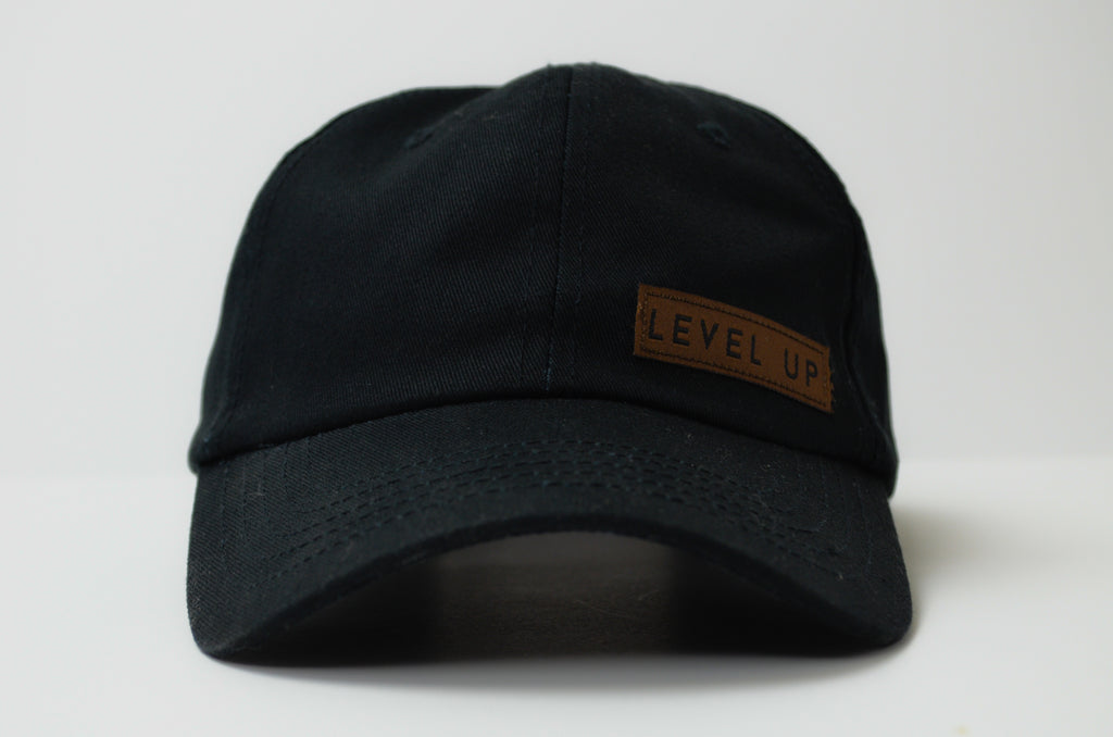 Level Up Black Baseball Hat