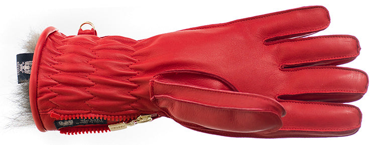 alexski womens red glove