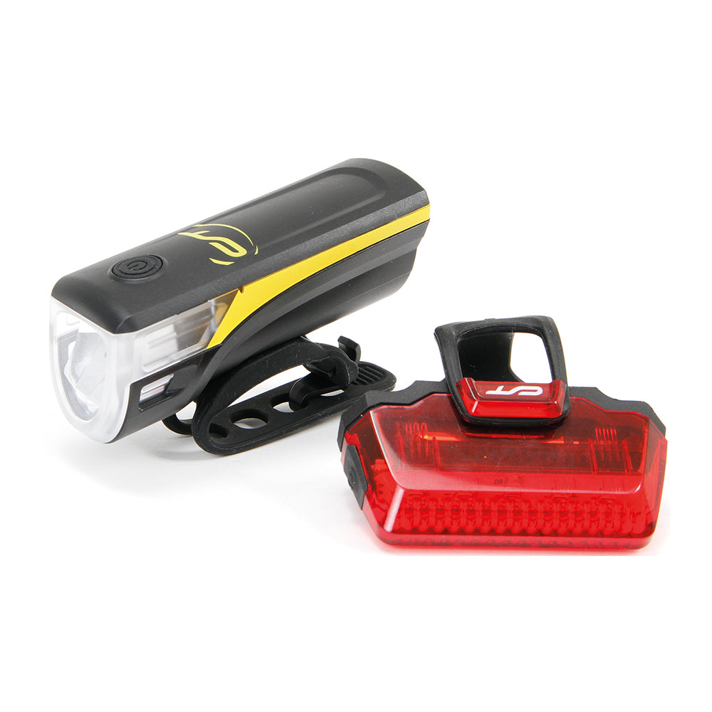 Batterielicht-Set Contec Speed-LED USB, schwarz / neoyellow