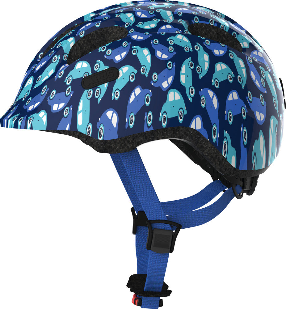 "Helm Abus ""Smiley 2.0 blue car"" - Größe S, 45-50cm, blau"
