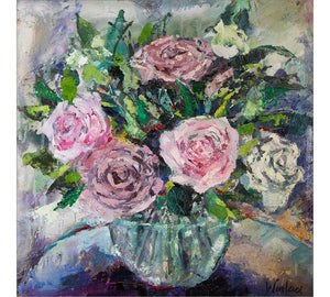 English Roses in Glass