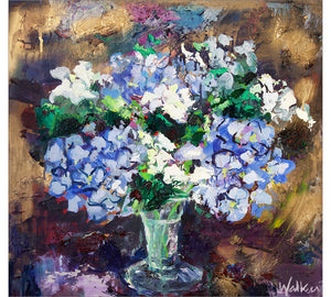Hydrangeas in Glass