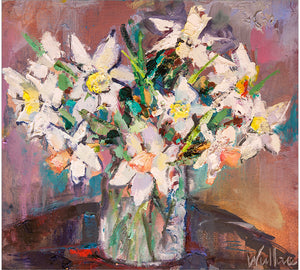 Mixed Daffodils in Vase