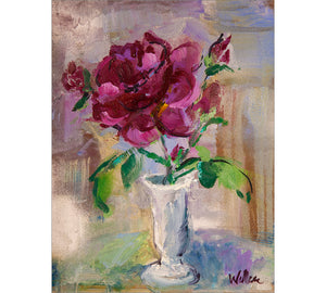 Rose in White Vase