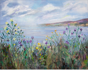 Sea and Wildflowers