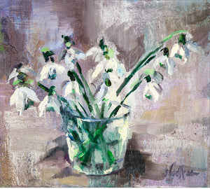 Snowdrops in Glass
