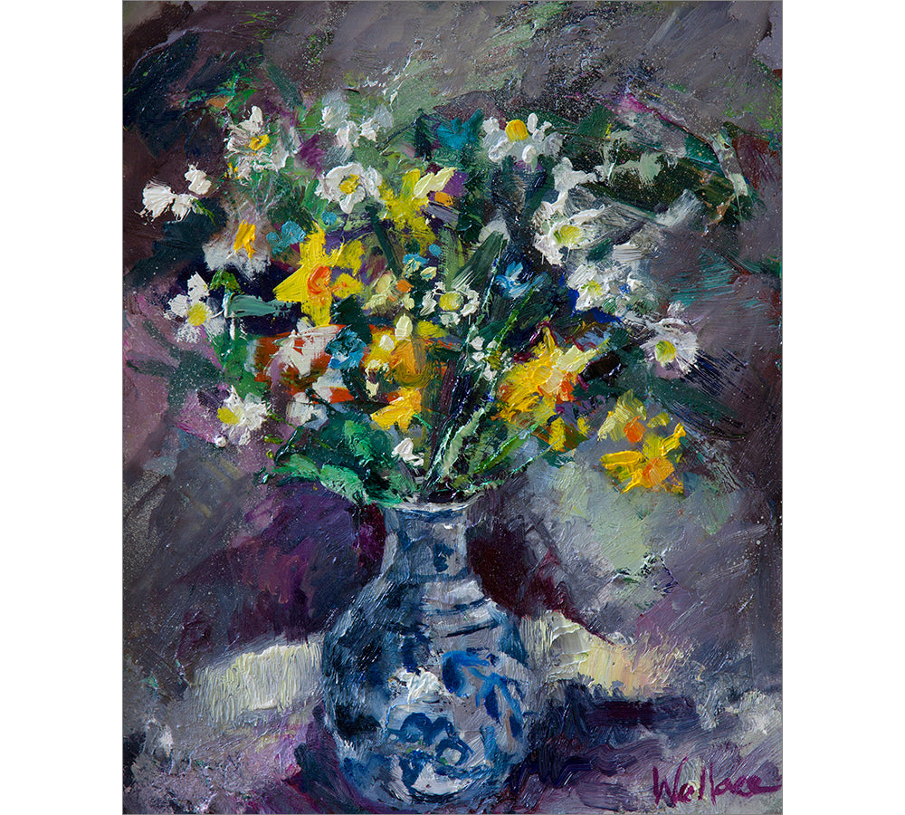 Spring Flowers in Chinese Vase