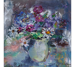 Spring Flowers in Cream Jug