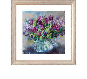 Tulips, Clematis and Lilac