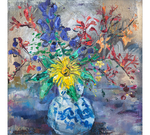 Wildflowers in Vintage Vase