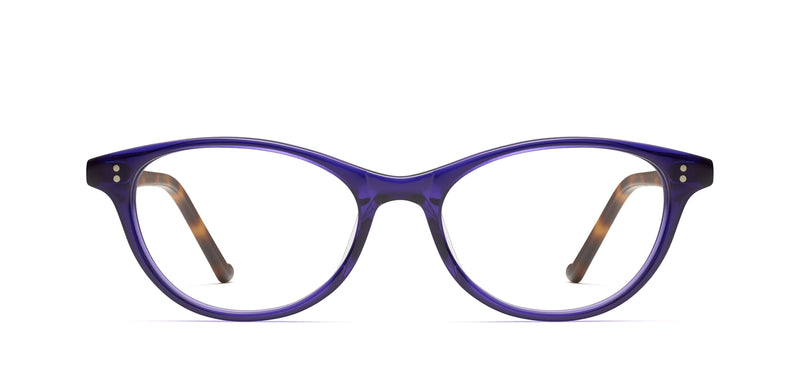 Charlize in purple / traditional tortoise