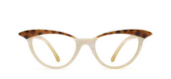 Madeleine Horn in spotty tortoise brown / creme