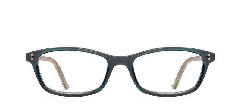Uma Horn in green / tortoise facet