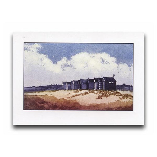 Beach Huts, Southwold Greeting Card - James & May