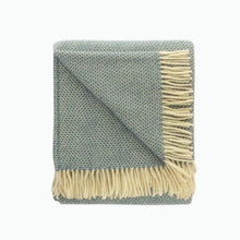 Load image into Gallery viewer, Beehive Wool Blanket in Petrol Blue - James & May
