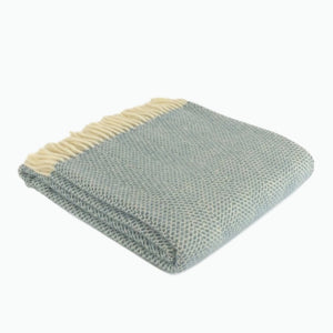 Beehive Wool Blanket in Petrol Blue