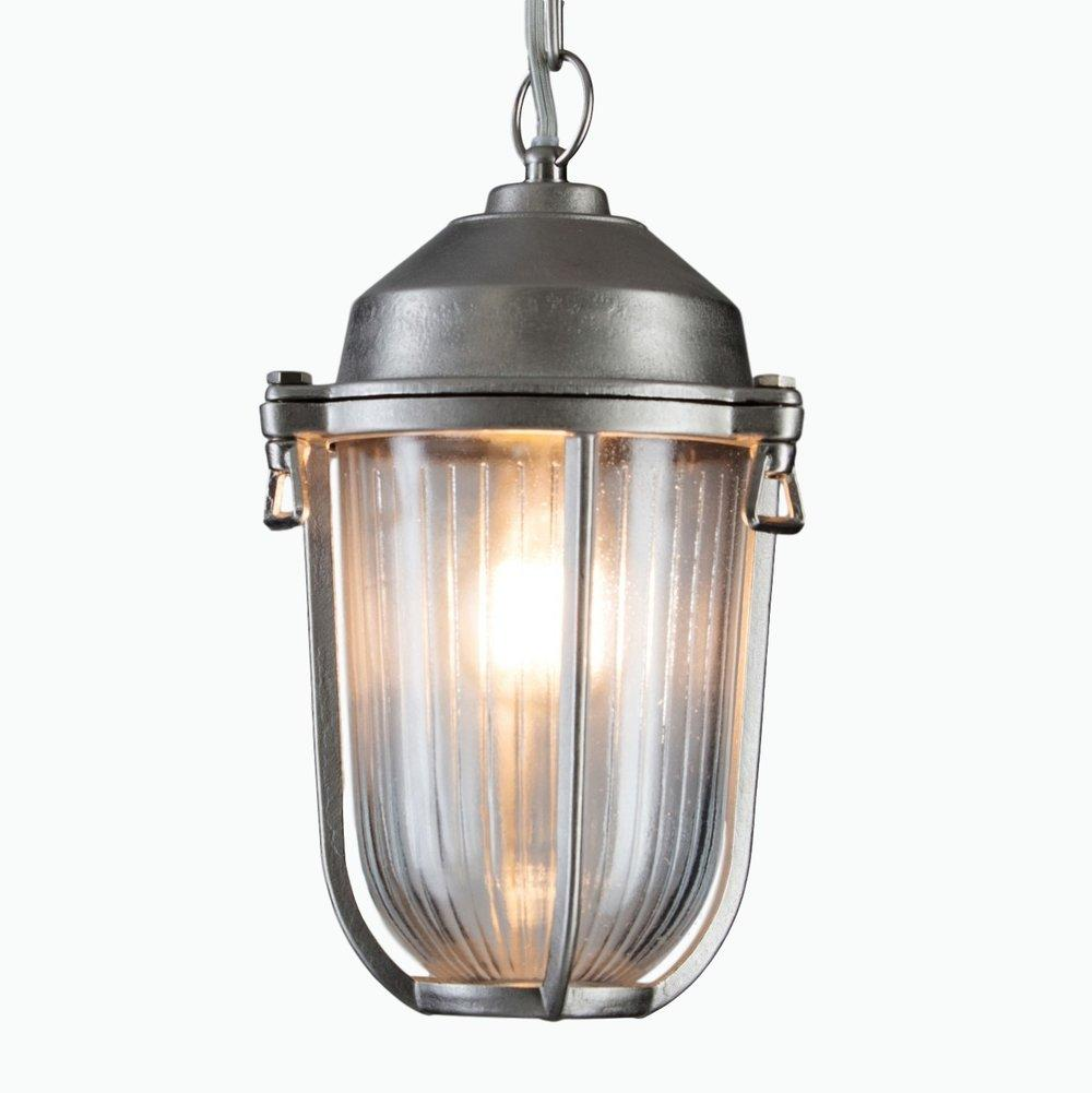 Boatyard Exterior Pendant Light in Nickel - James & May