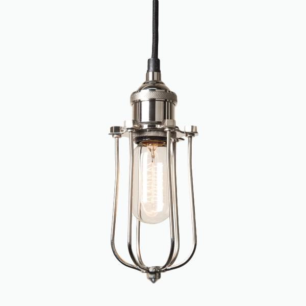 Cage Pendant Light in Nickel - James & May