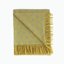 Load image into Gallery viewer, Coastal Lambswool Throw in Abersoch Yellow - James & May