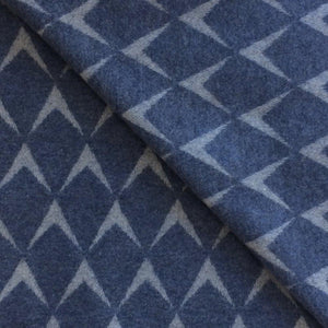 Coastal Lambswool Throw in Penrhos Blue - James & May
