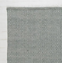 Load image into Gallery viewer, Diamond Rug in Green Grey - James & May