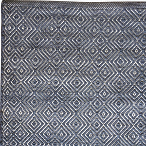 Diamond Rug in Navy - James & May