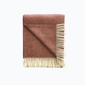 Herringbone Wool Blanket in Burnt Orange - James & May
