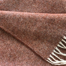 Load image into Gallery viewer, Herringbone Wool Blanket in Burnt Orange - James & May